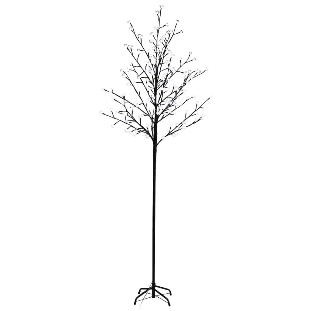 Afbeelding van vidaXL Kerstboom LED wit licht kersenbloesem 180 cm