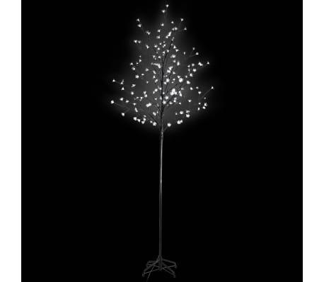 vidaXL Julgran LED 180 cm körsbärsblommor vitt ljus[1/4]