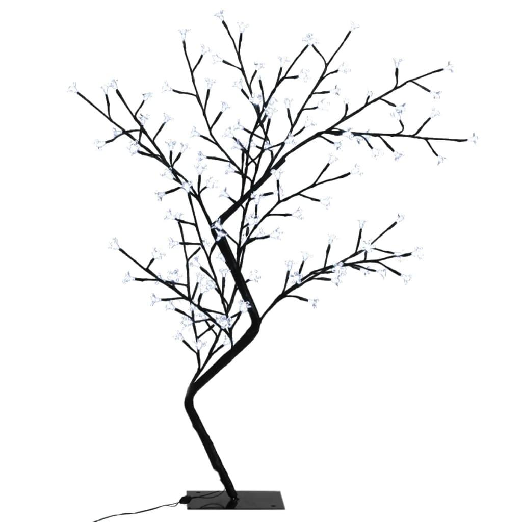 Kvetoucí třešeň strom s LED světýlky, teple bílé světlo, 128 LED