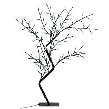 vidaXL Arbre de Noël LED blanche Cerisier en fleurs 120 cm[2/6]