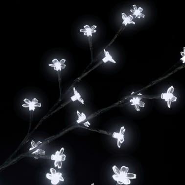 vidaXL Arbre de Noël LED blanche Cerisier en fleurs 120 cm[5/6]