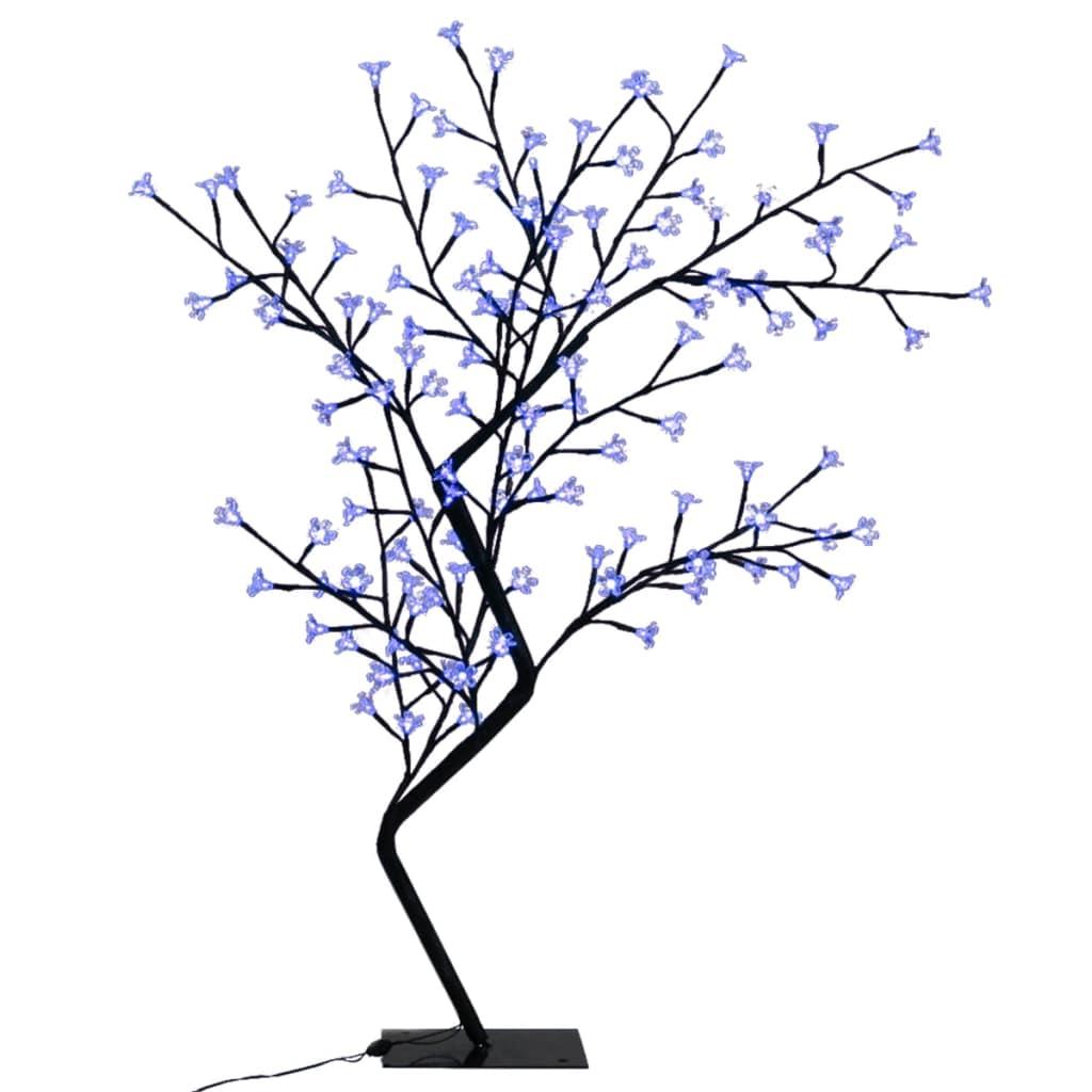 Afbeelding van vidaXL Kerstboom LED blauw licht kersenbloesem 120 cm