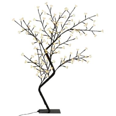 vidaXL Albero di Natale Luce a LED Bianco Caldo Ciliegio in Fiore 120 cm[2/6]