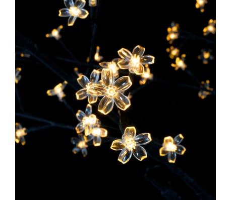vidaXL Albero di Natale Luce a LED Bianco Caldo Ciliegio in Fiore 120 cm[4/6]