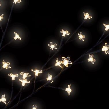 vidaXL Albero di Natale Luce a LED Bianco Caldo Ciliegio in Fiore 120 cm[5/6]