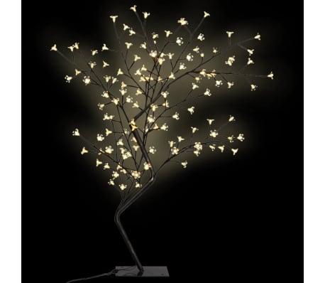 vidaXL Albero di Natale Luce a LED Bianco Caldo Ciliegio in Fiore 120 cm[1/6]