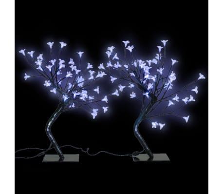 2 Kirsebærtrær LED Blått Lys[1/6]