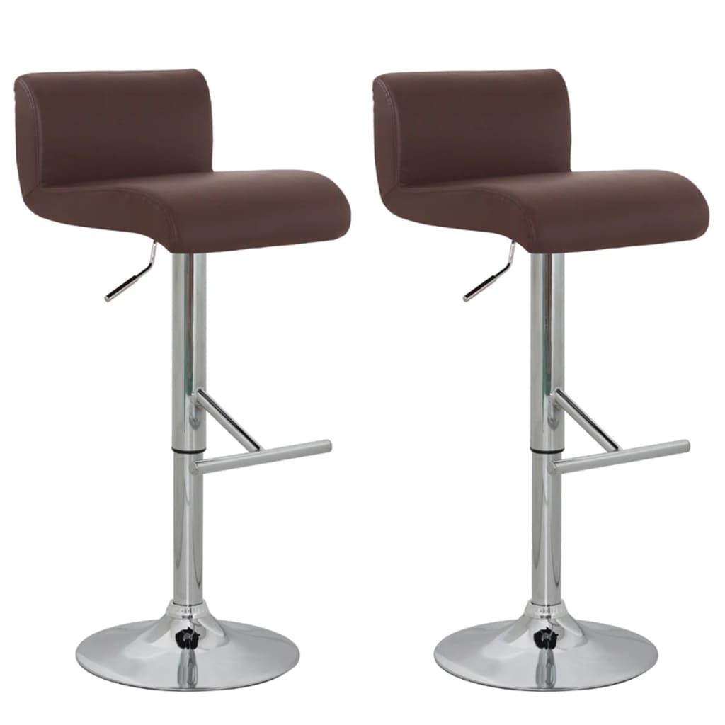 vidaXL Barová stolička 2 ks hnědá