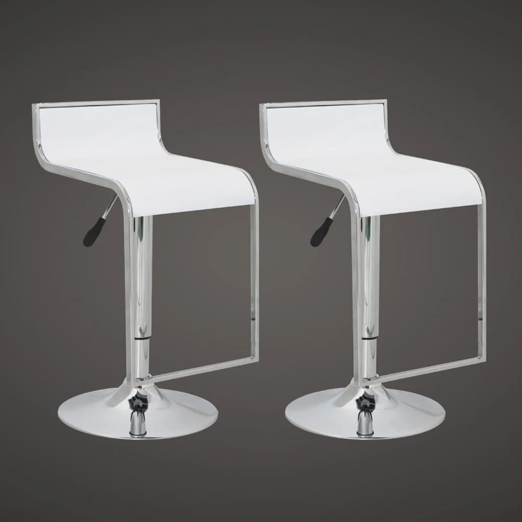 Barová židle s nízkým opěradlem bílá ABS plast (set 2 kusů)