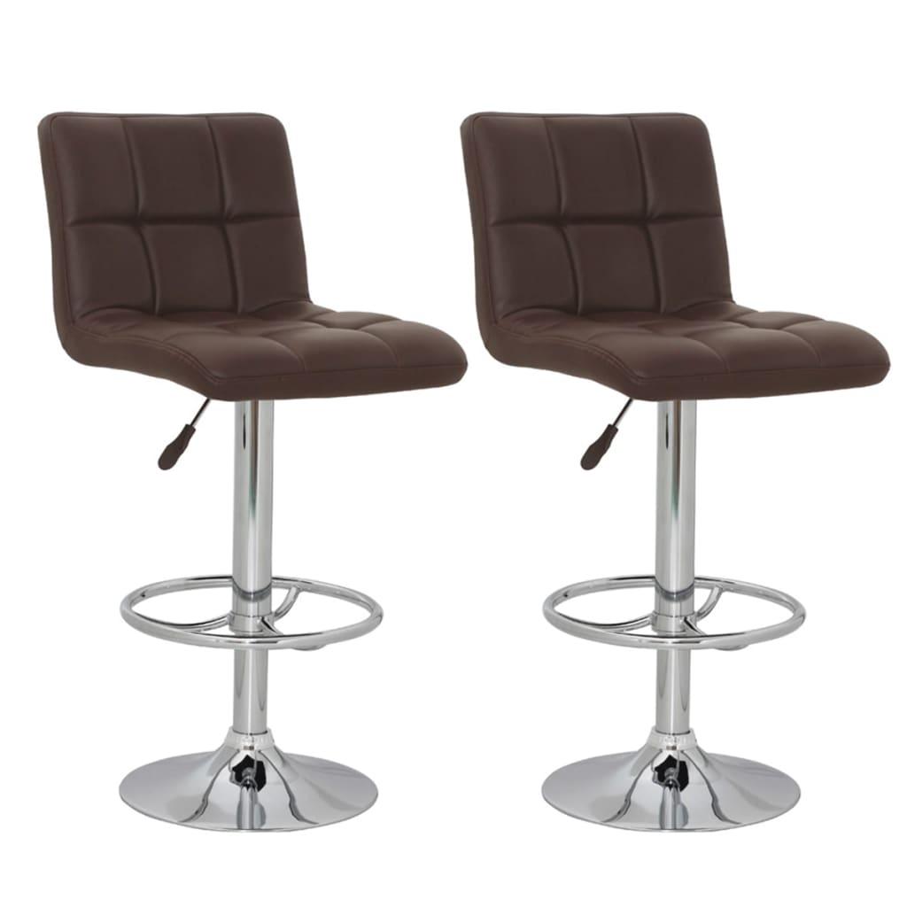 vidaXL Barové židle 2 ks hnědé
