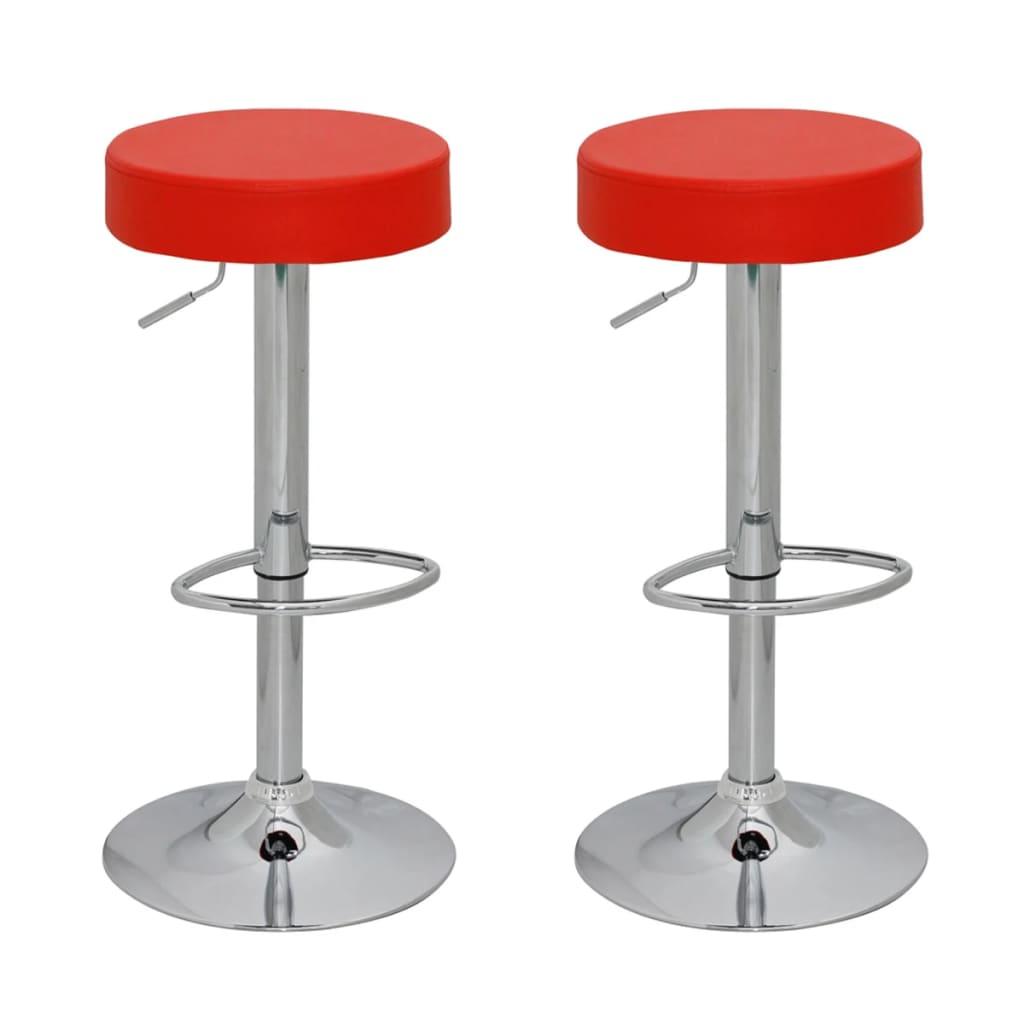 Barová stolička 2 ks - červená