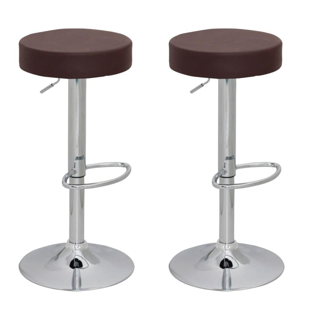 Barová stolička 2 ks - hnědá