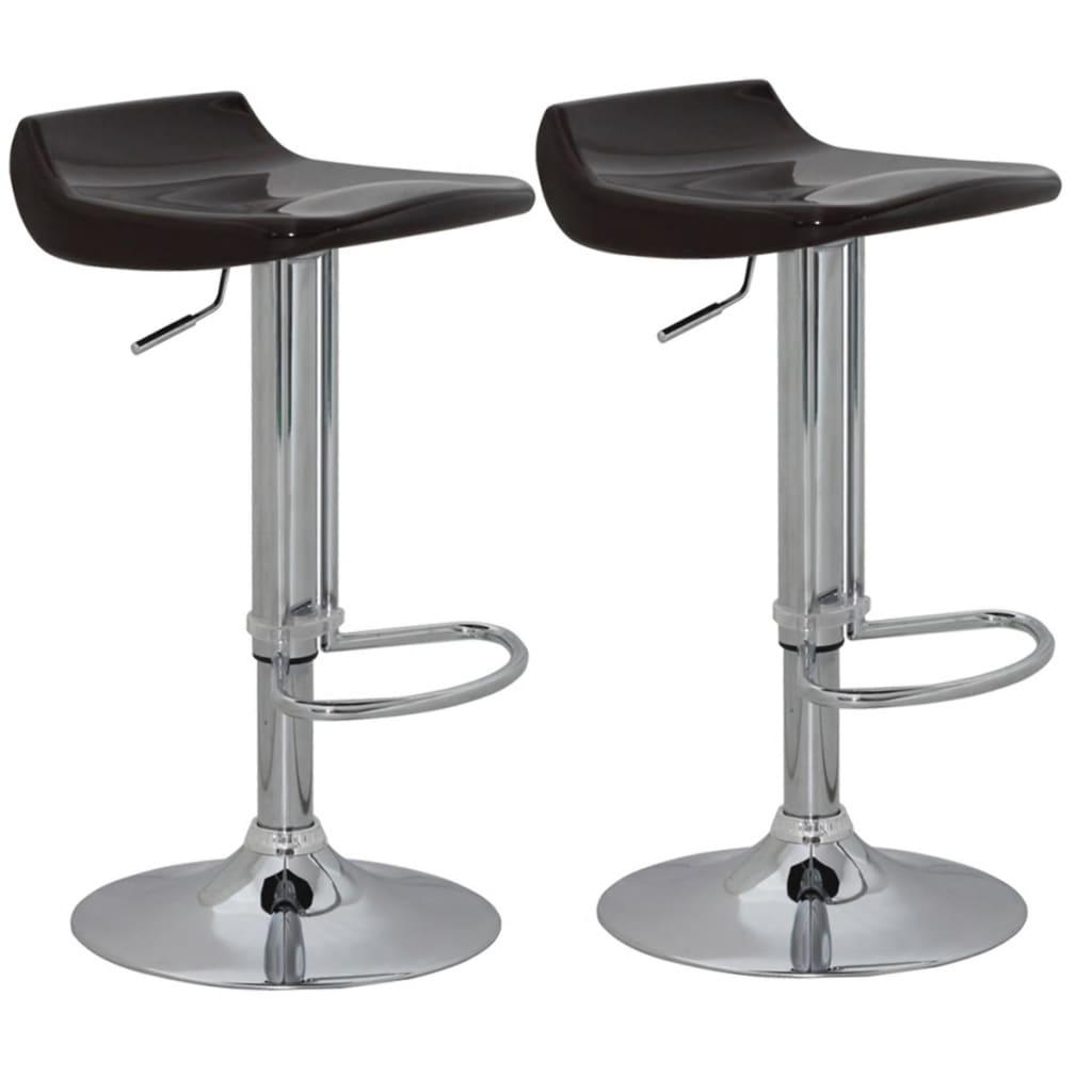Set scaune bar (2 buc) din ABS, Maro poza 2021 vidaXL