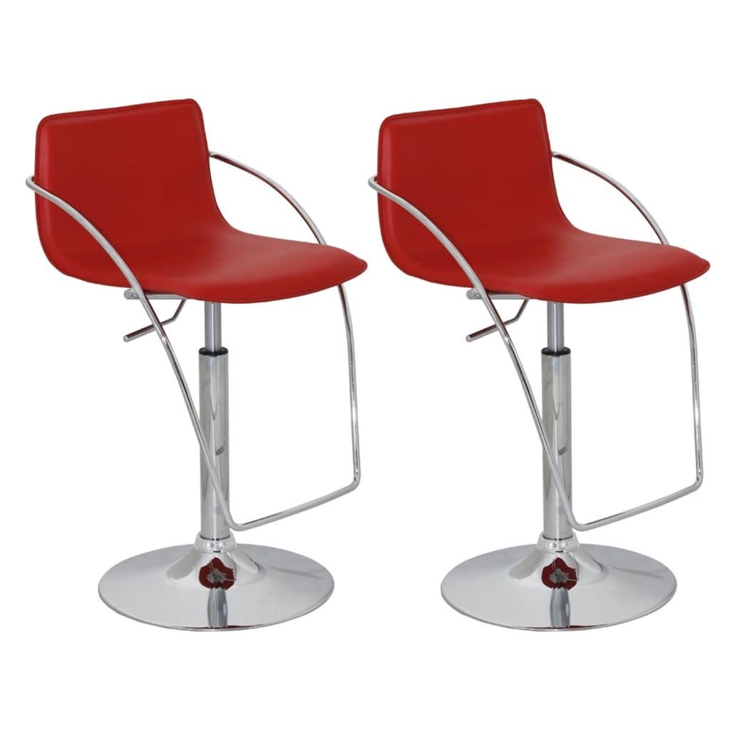 Barová židle s područkami - 2 ks - červená