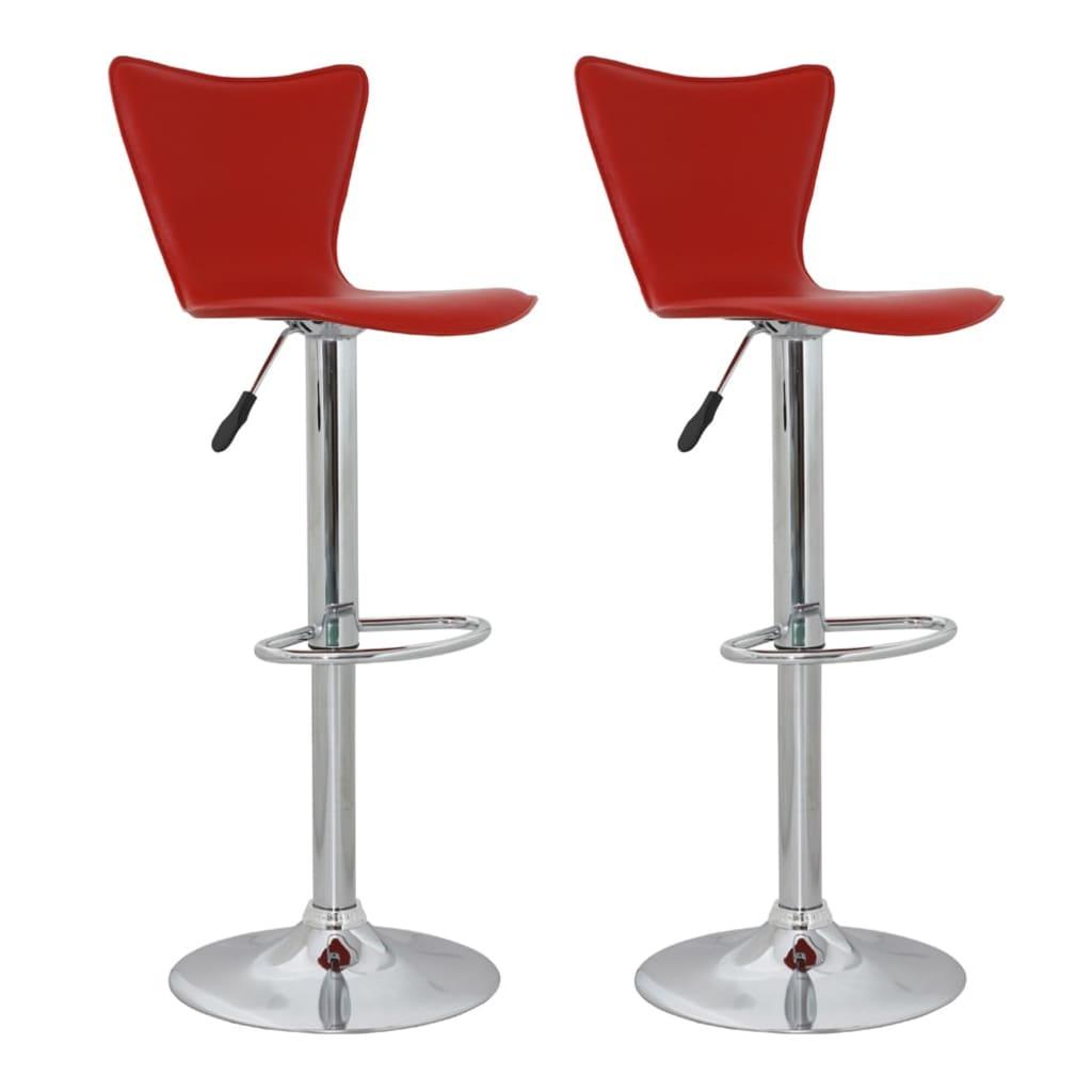 Barová židle s vysokou opěrkou - červená