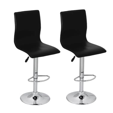 vidaXL Bar Stools 2 pcs Black[1/5]