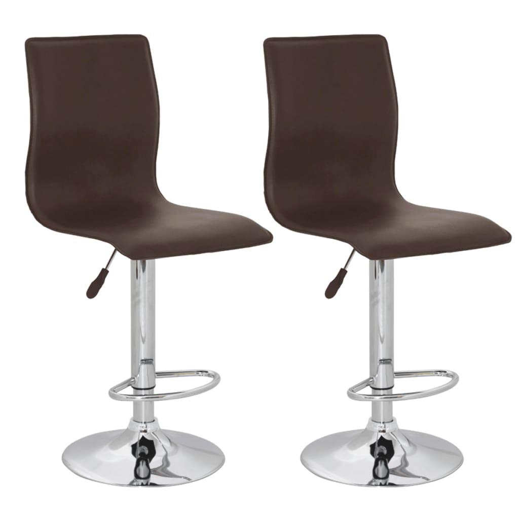 vidaXL Barové židle 2 ks, hnědá