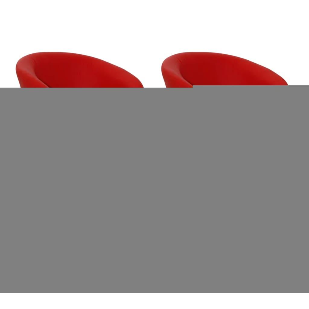 vidaXL Barové židle 2 ks červené