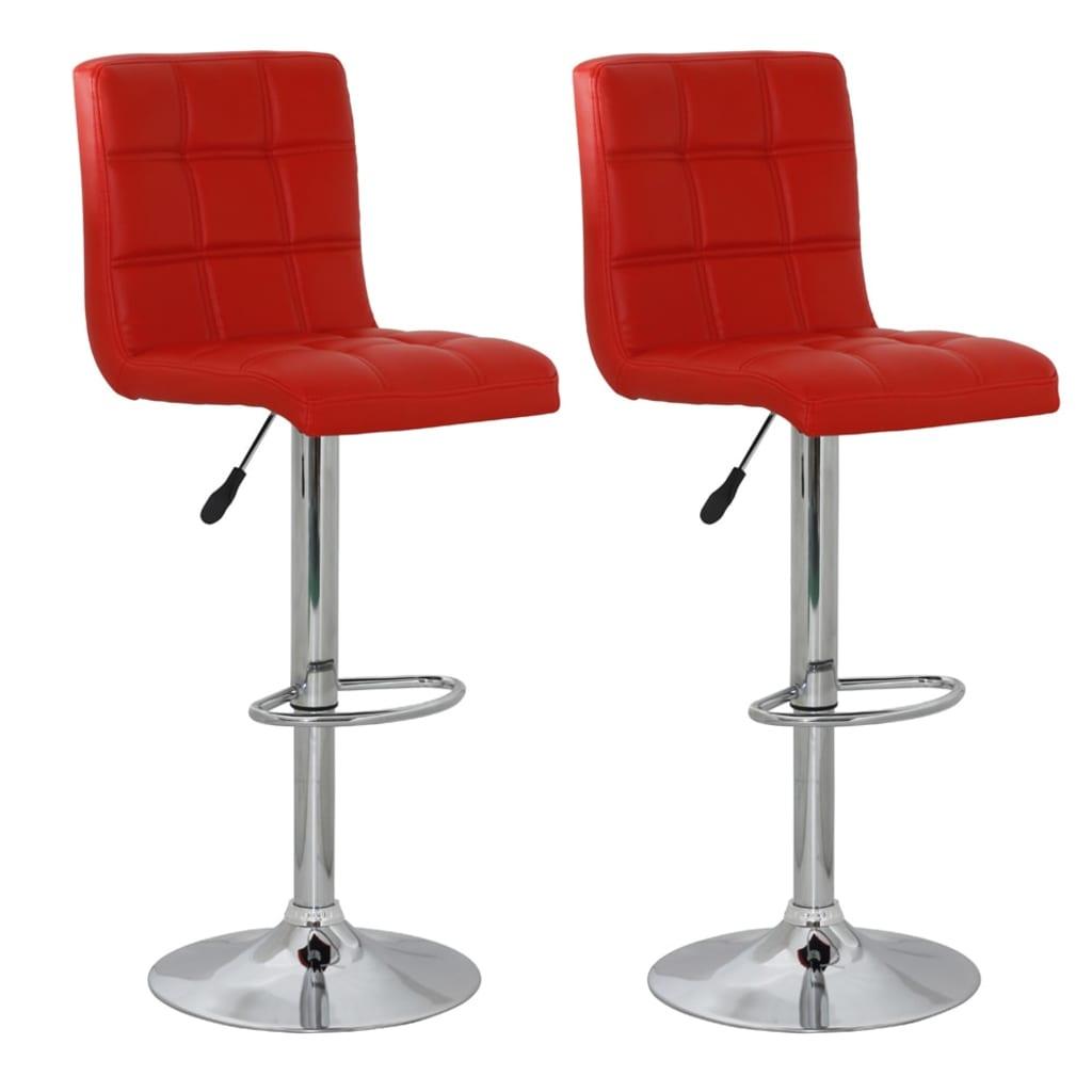 vidaXL Barové židle 2 ks umělá kůže, červená
