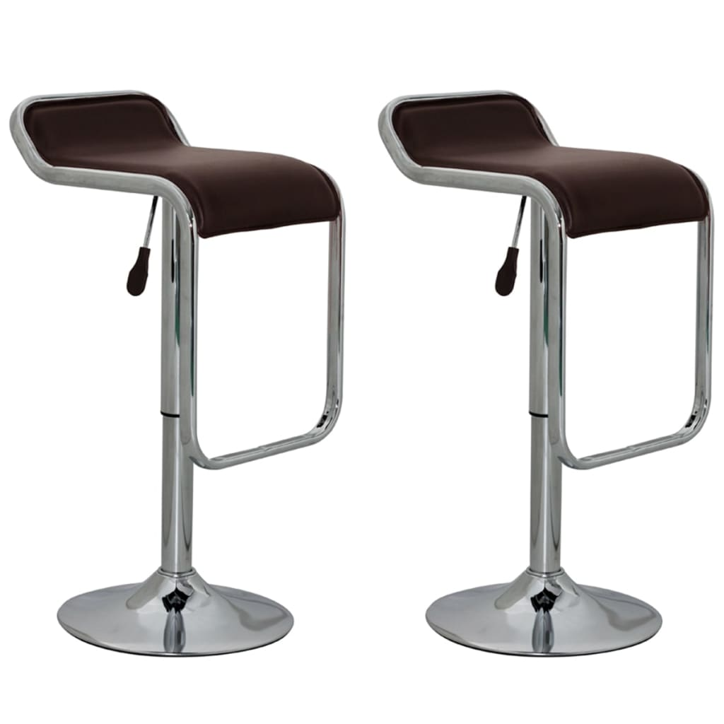 vidaXL Barové stoličky 2 ks hnědé
