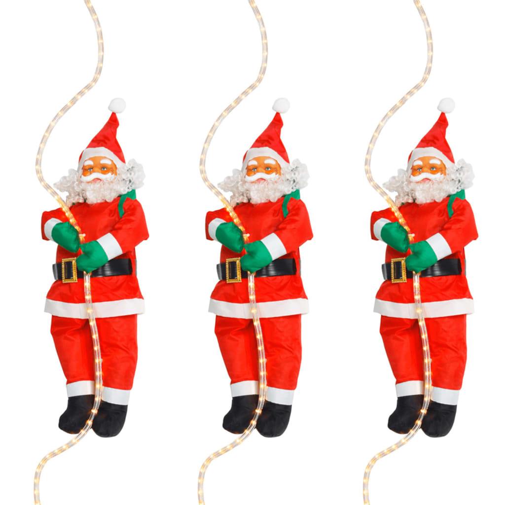 Afbeelding van vidaXL Kerstman met lichtslang 60 cm (set van 3)