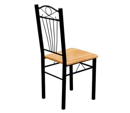esszimmer st hle tisch 7er set holz metall hellbraun g nstig kaufen. Black Bedroom Furniture Sets. Home Design Ideas
