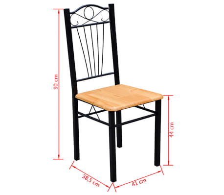 Set 6 sedie e tavolo cucina e pranzo legno e acciaio - Tavolo legno e acciaio ...