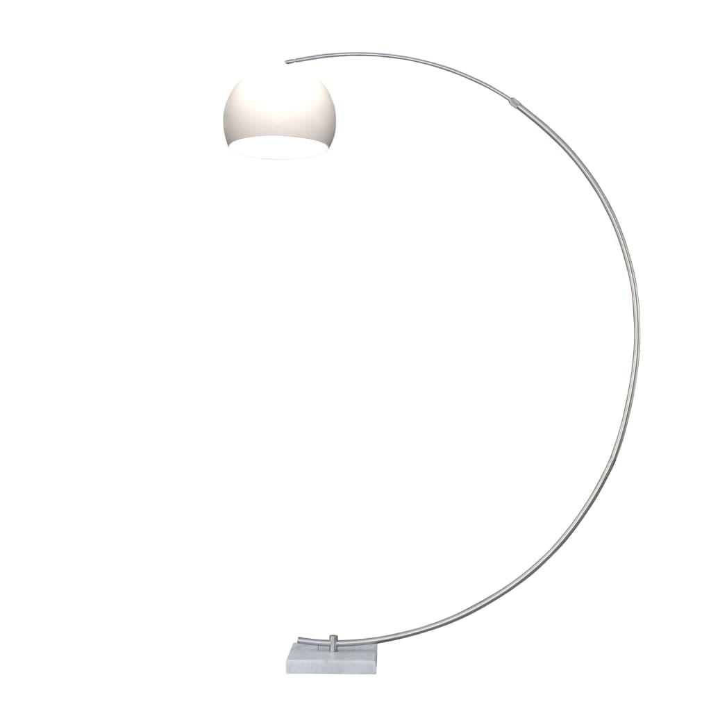 Lampă arcuită d podea, Marmură albă 250 cm poza vidaxl.ro