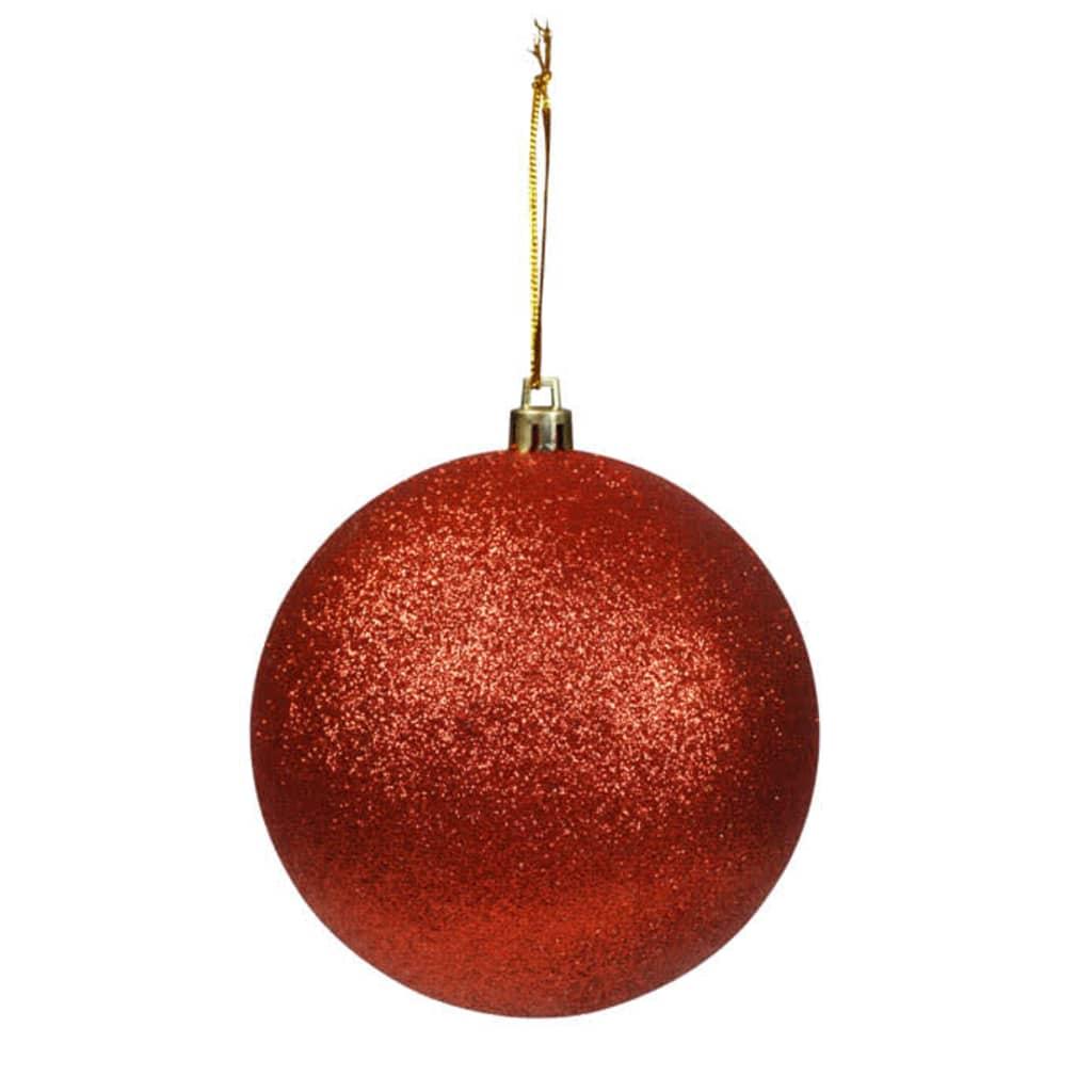 Afbeelding van vidaXL Kerstballen rood met glitters 30 stuks