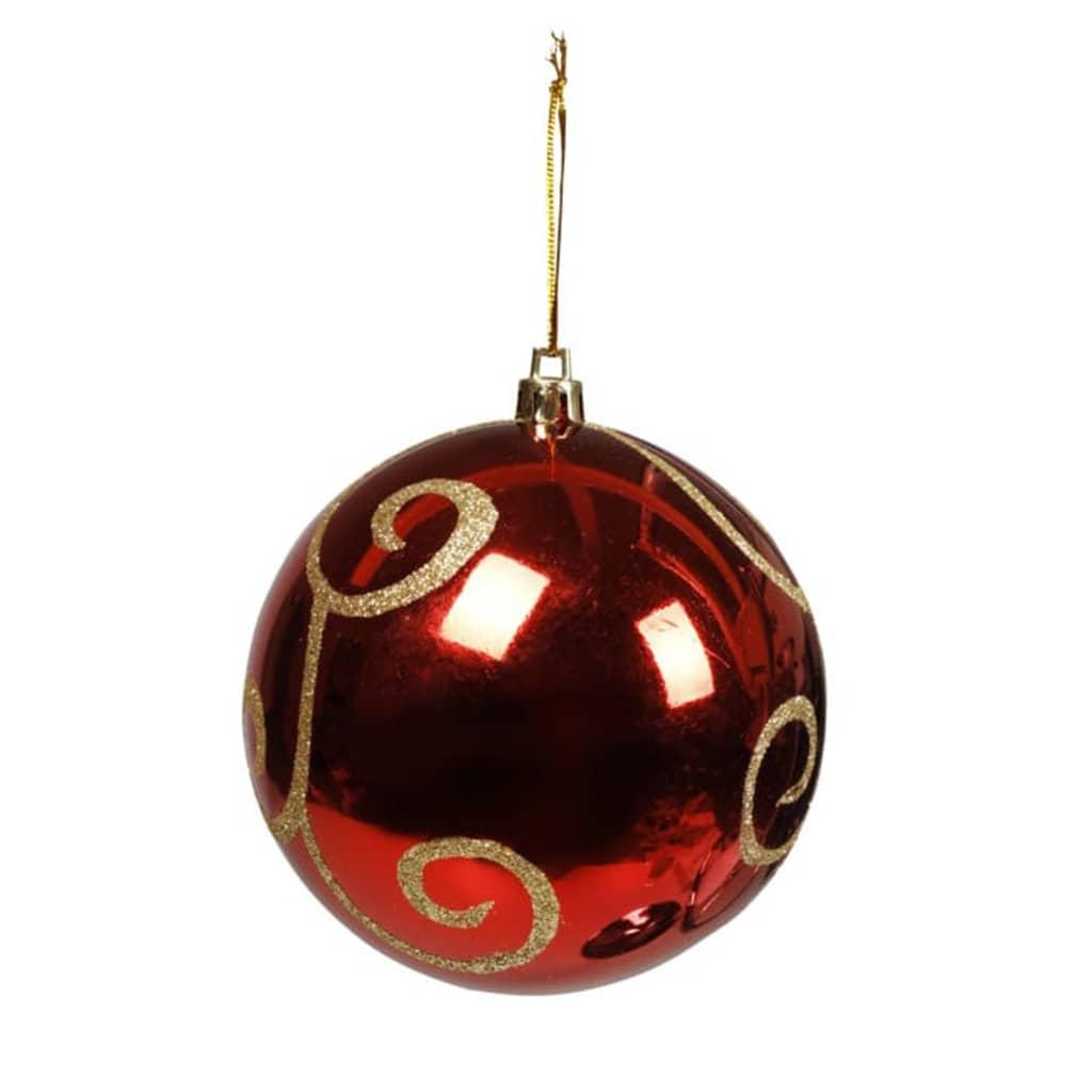 Afbeelding van vidaXL Kerstballen rood met goud 30 stuks