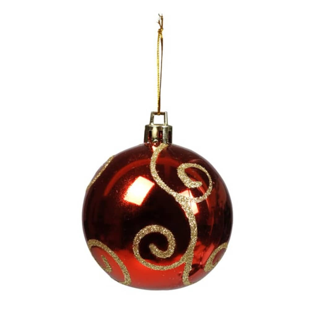 Afbeelding van vidaXL Kerstballen rood met goud 100 stuks