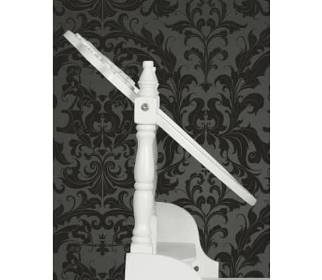 vidaXL Dressing Table with Mirror and Stool White[7/9]