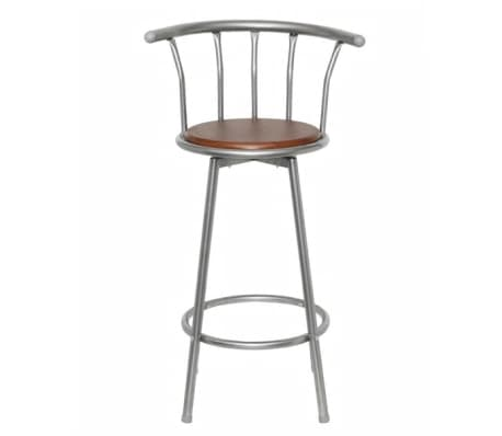 vidaXL Bar Stools 2 pcs Brown Steel[2/5]