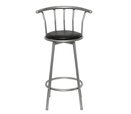 2 Bar stoli usnje jeklo[2/5]