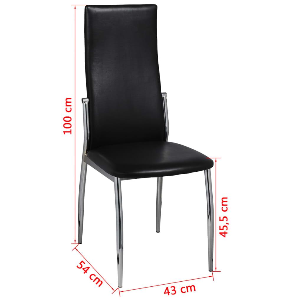 vidaXL Eetkamerstoelen 2 st kunstleer zwart