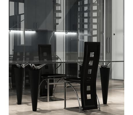esszimmer st hle 2er set schwarz stahl kunstleder g nstig kaufen. Black Bedroom Furniture Sets. Home Design Ideas