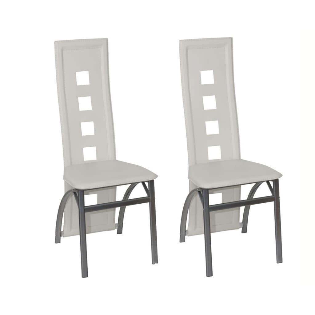 2 jídelní židle ocelové bílé