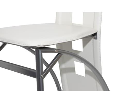 Vidaxl 2 pz sedie in acciaio per sala da pranzo bianche for Sedie bianche sala da pranzo