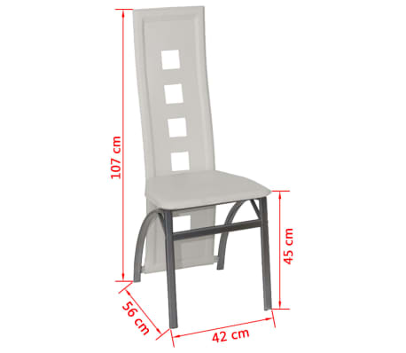 esszimmer st hle 2er set wei stahl kunstleder zum schn ppchenpreis. Black Bedroom Furniture Sets. Home Design Ideas