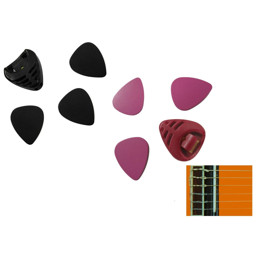 Set plectre/pick/pană chitară + suport plectre imagine vidaxl.ro