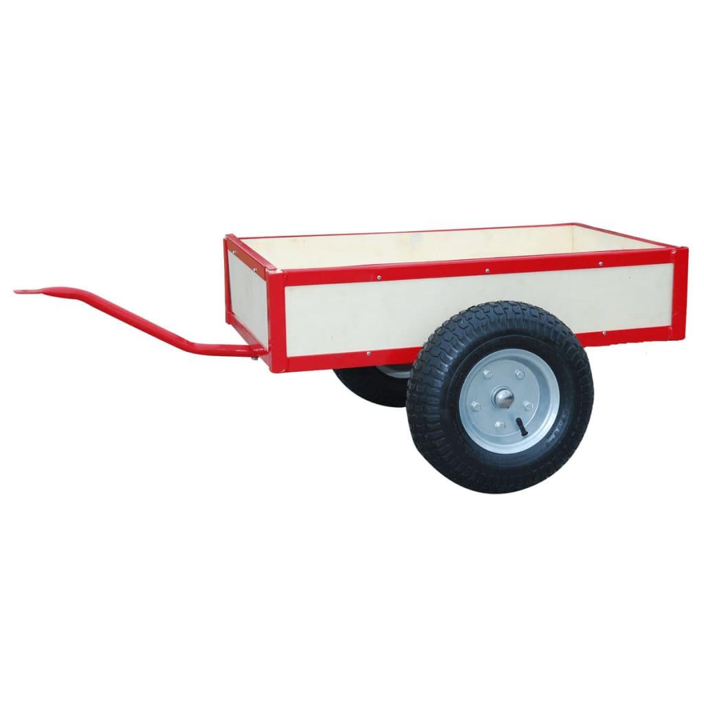 Červený přívěs na motokáru - 81 x 73 x 34 cm