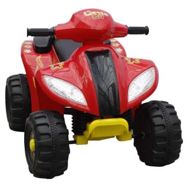 ATV electric copii roșu și negru[2/5]