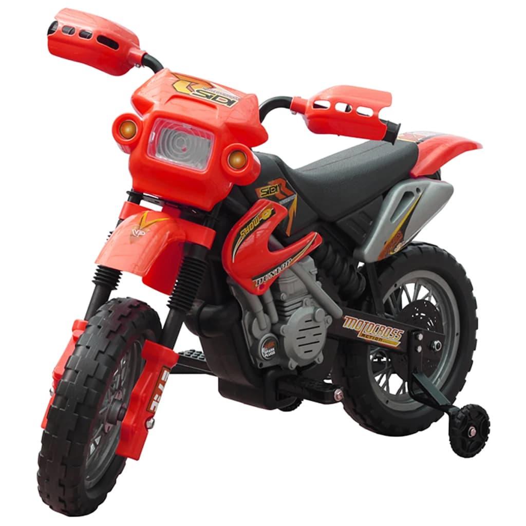 Elektrická dětská motorka - červená
