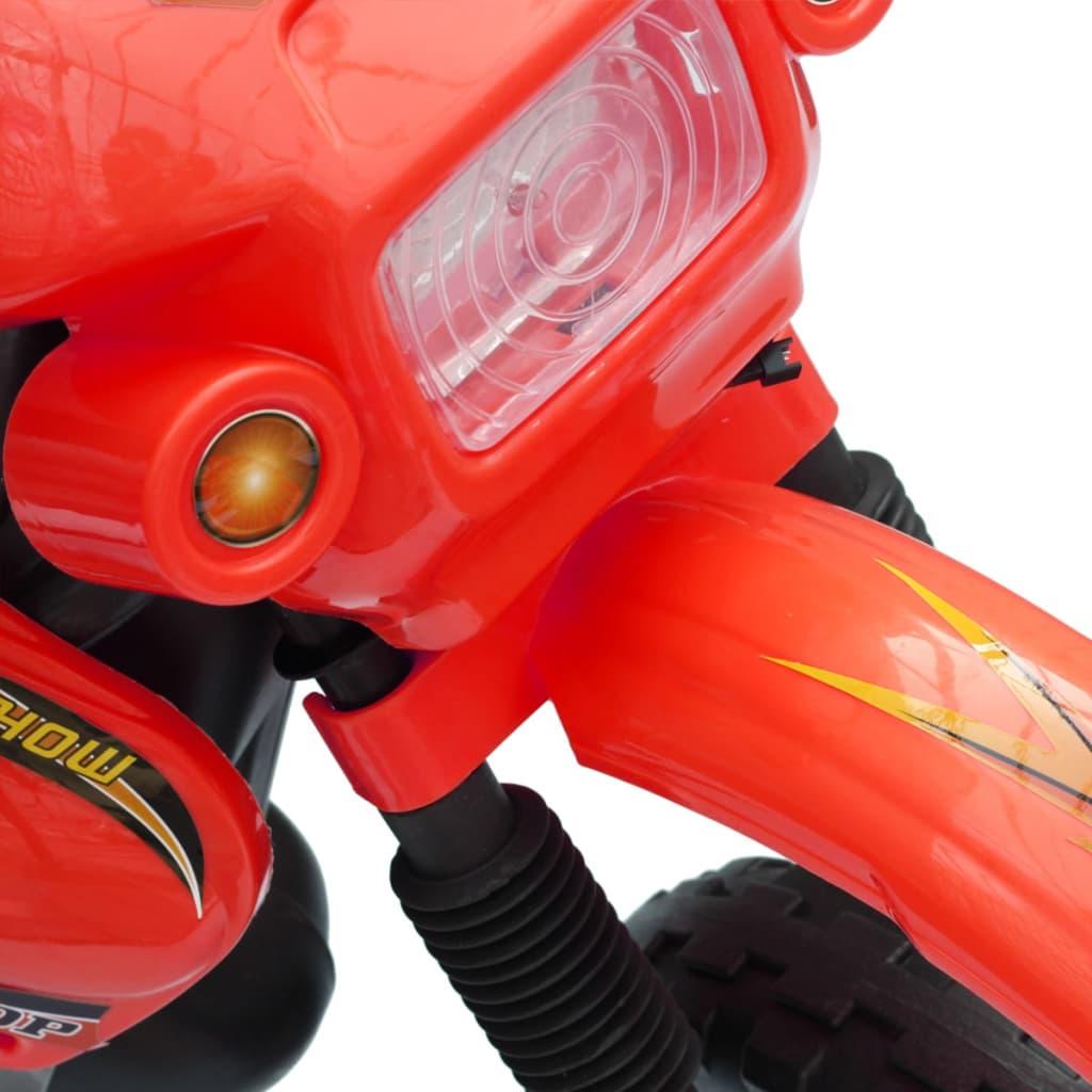 Kinder motor Crosser elektrisch 6 volt rood