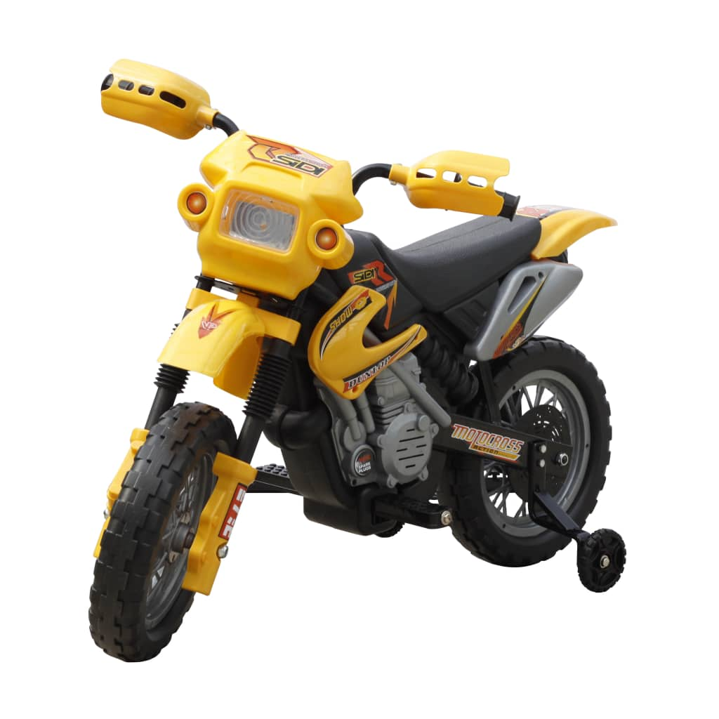 Elektrická dětská motorka - žlutá