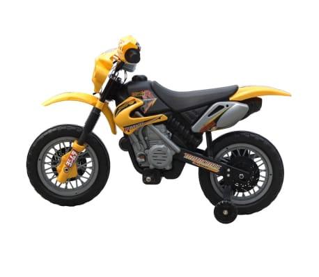 Kinder Motor Crosser Elektrisch 6 Volt Geel Online Kopen Vidaxlnl