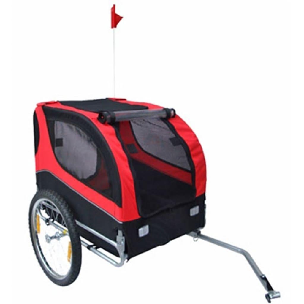 vidaXL Vozík za kolo pro psa Lassie červený