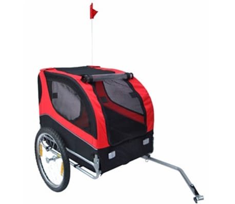 vidaXL Dog Bike Trailer Lassie Red