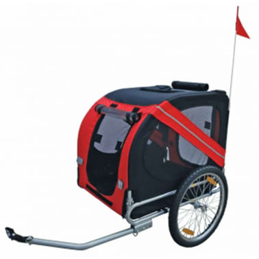vidaXL Dog Bike Trailer Rex Red[1/3]