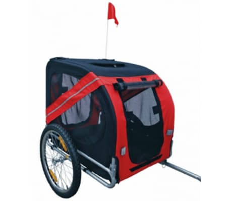 vidaXL Dog Bike Trailer Rex Red[3/3]